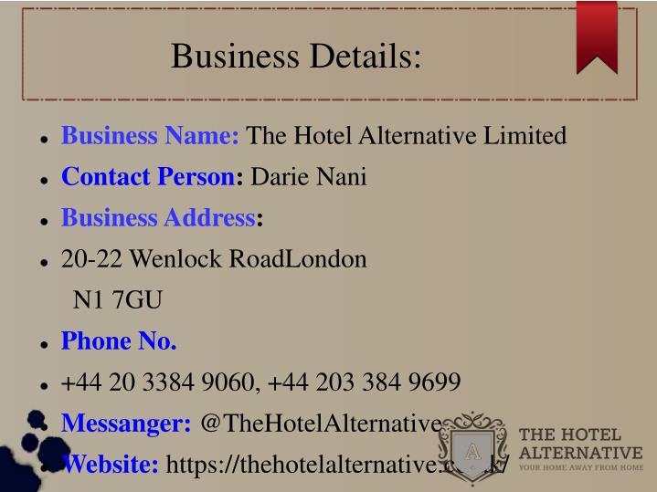 Business Details: