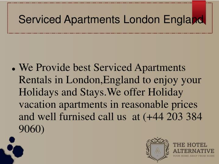 Serviced apartments london england