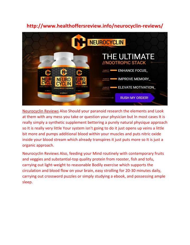 Http://www.healthoffersreview.info/neurocyclin-reviews/