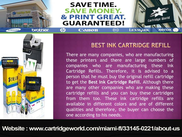 Best ink cartridge refill