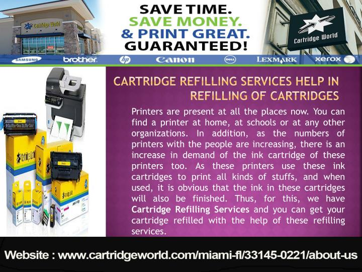 Cartridge Refilling Services Help in Refilling of Cartridges