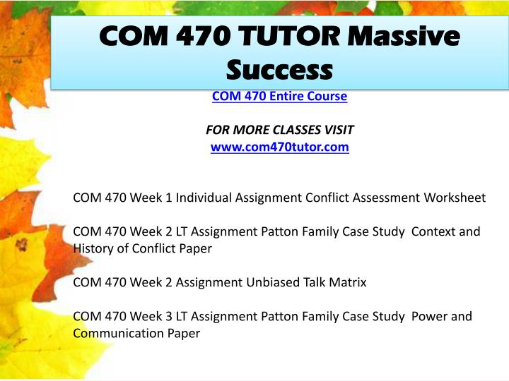 COM 470 TUTOR Massive Success