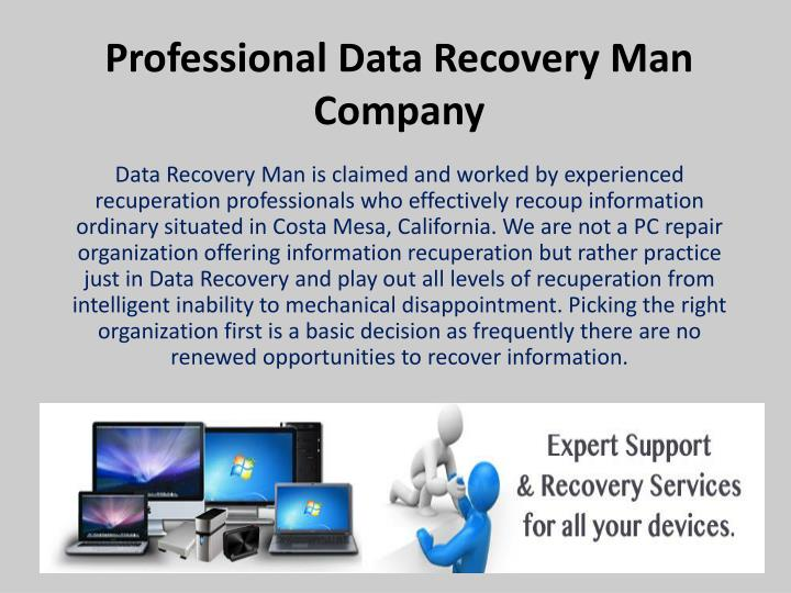 Professional data recovery man company