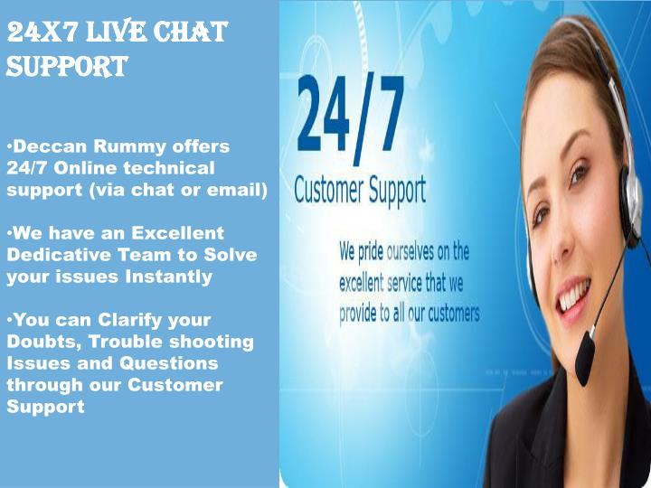 24X7 Live Chat Support