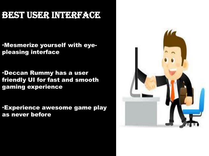 Best user interface