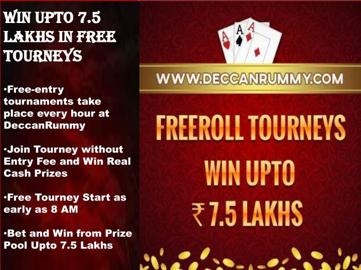 Win upto 7.5 Lakhs in free tourneys