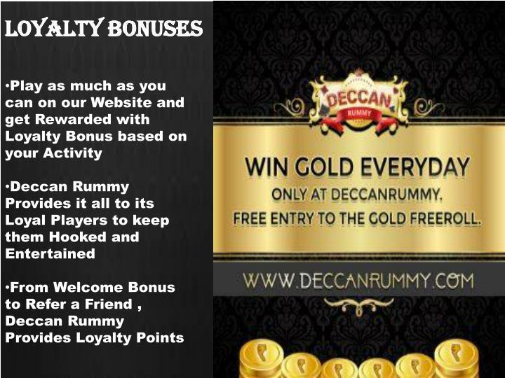 Loyalty bonuses