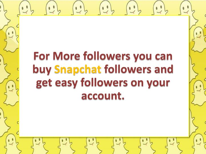 For More followers
