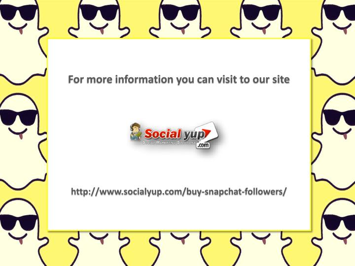 For more information you can visit