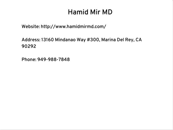 Hamid Mir MD