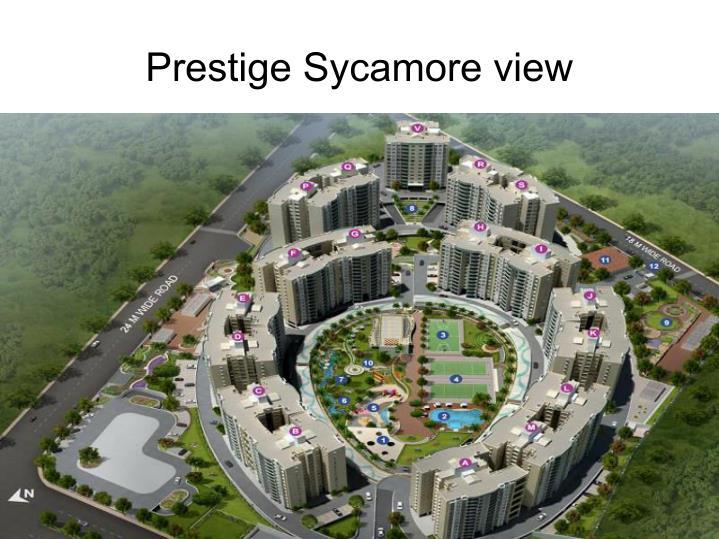 Prestige Sycamore view