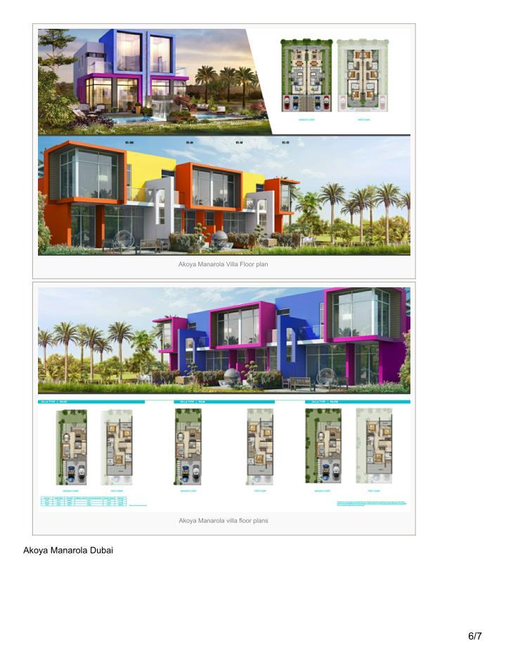 Akoya Manarola Villa Floor plan