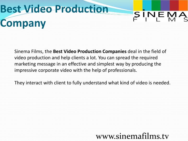 Best video production company