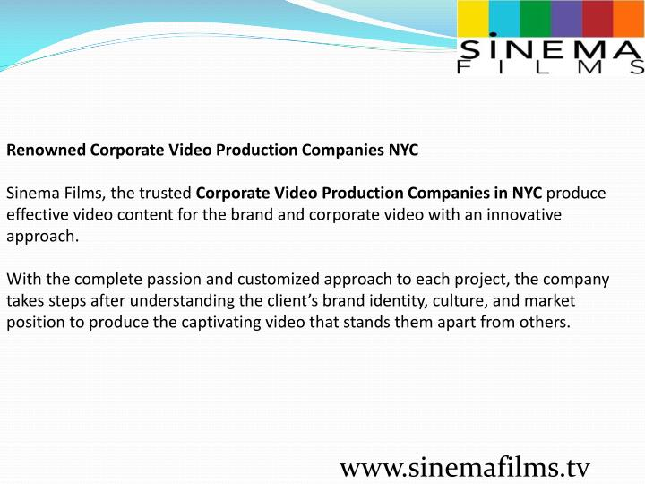 Renowned Corporate Video Production Companies NYC