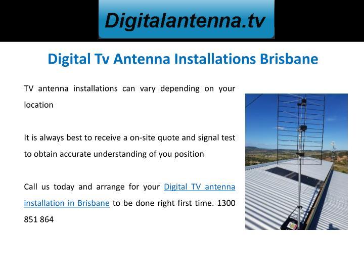 Digital Tv Antenna Installations Brisbane