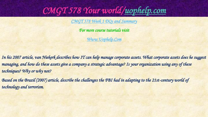 Cmgt 578 your world uophelp com2