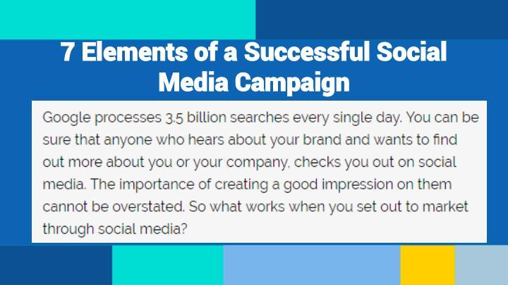 7 Elements of a Successful Social Media