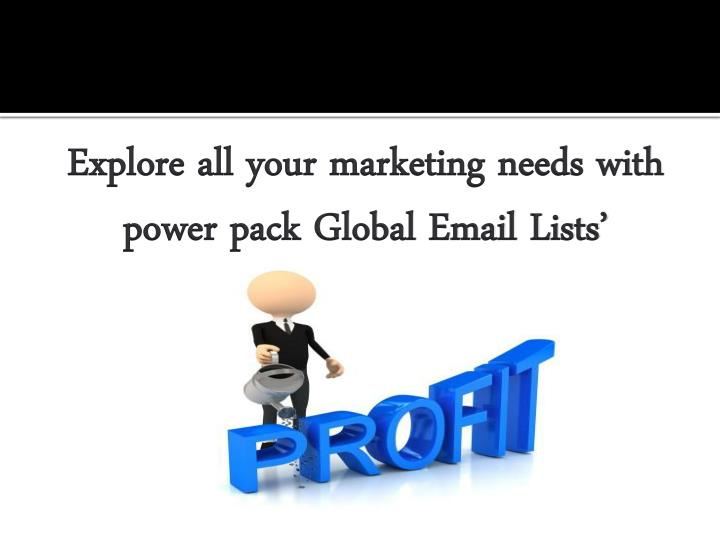 Explore all your marketing needs with