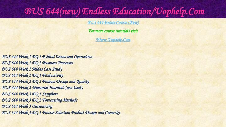 Bus 644 new endless education uophelp com1