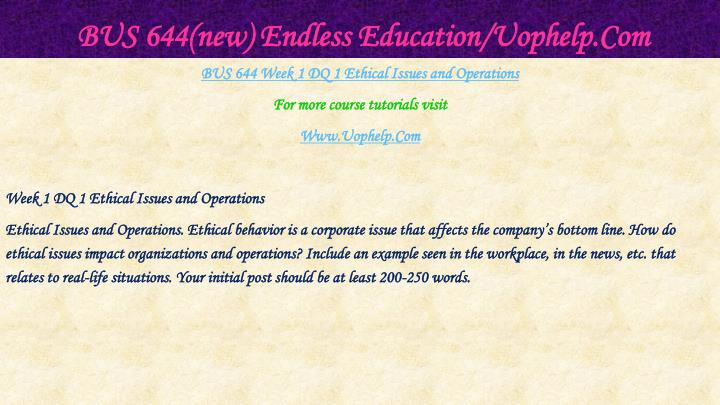 Bus 644 new endless education uophelp com2