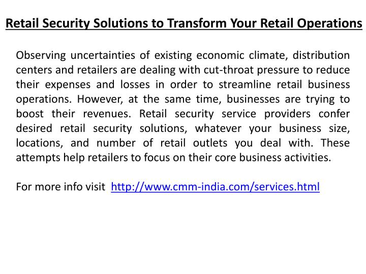 Retail Security Solutions to Transform Your Retail Operations