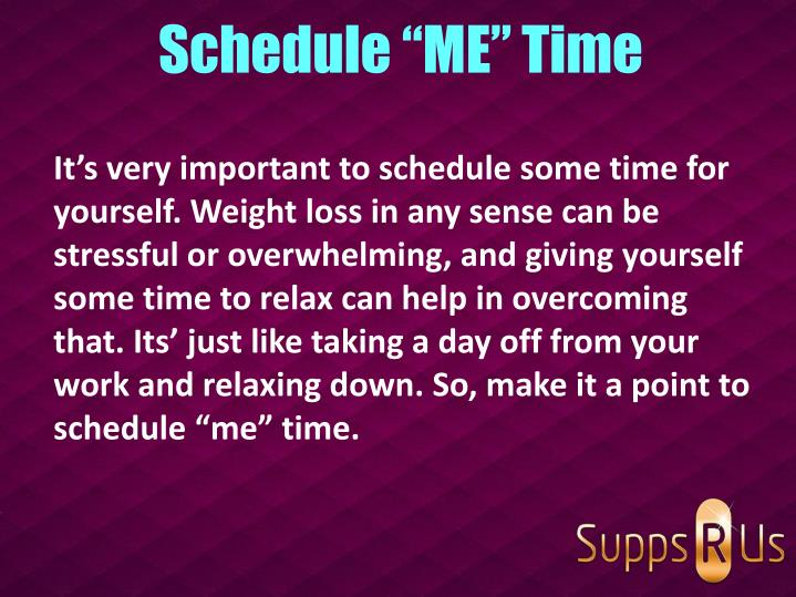 "Schedule ""ME"" Time"