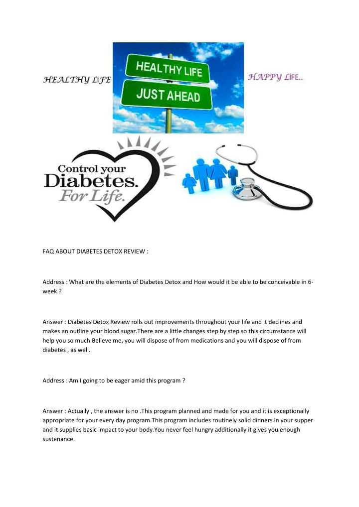 FAQ ABOUT DIABETES DETOX REVIEW :