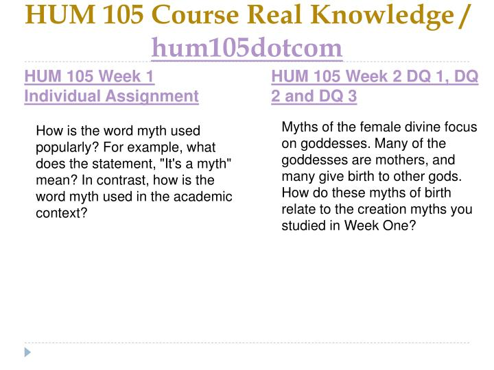 Hum 105 course real knowledge hum105dotcom2