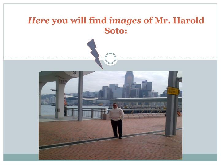 Here you will find images of mr harold soto