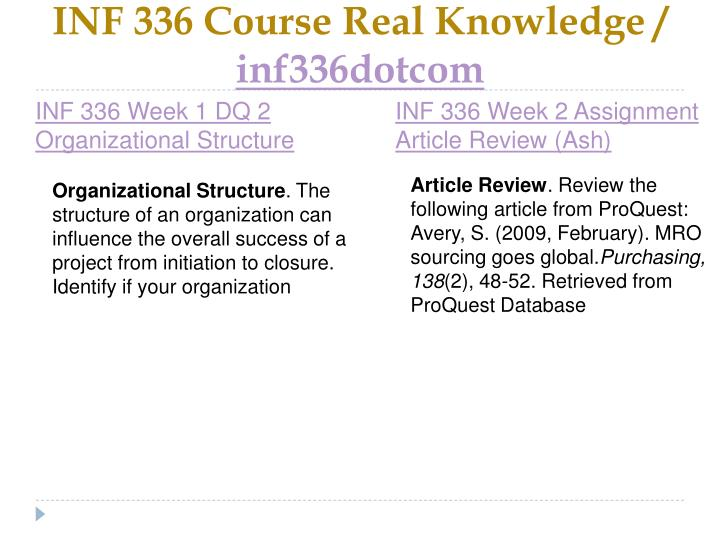 INF 336 Course Real Knowledge /