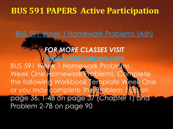 BUS 591 PAPERS