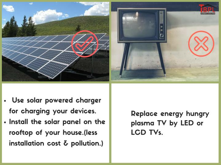 Use solar powered charger