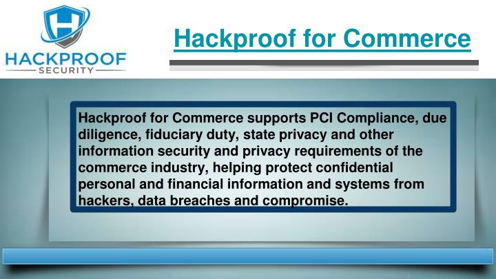 Hackproof for Commerce