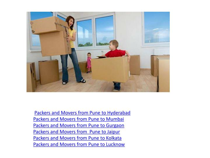 Packers and Movers from Pune to Hyderabad