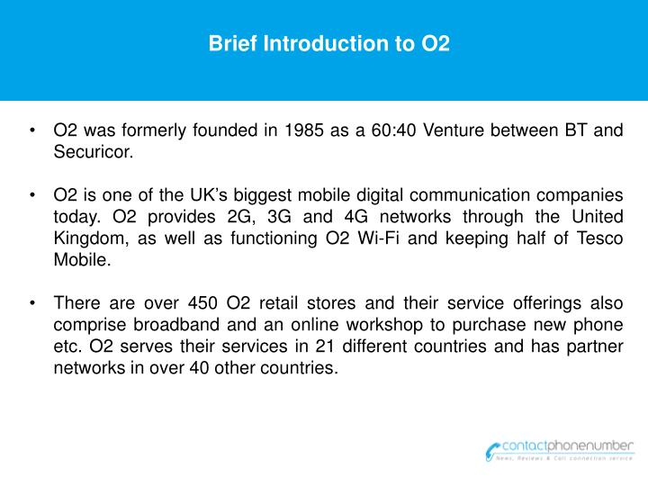 Brief Introduction to O2