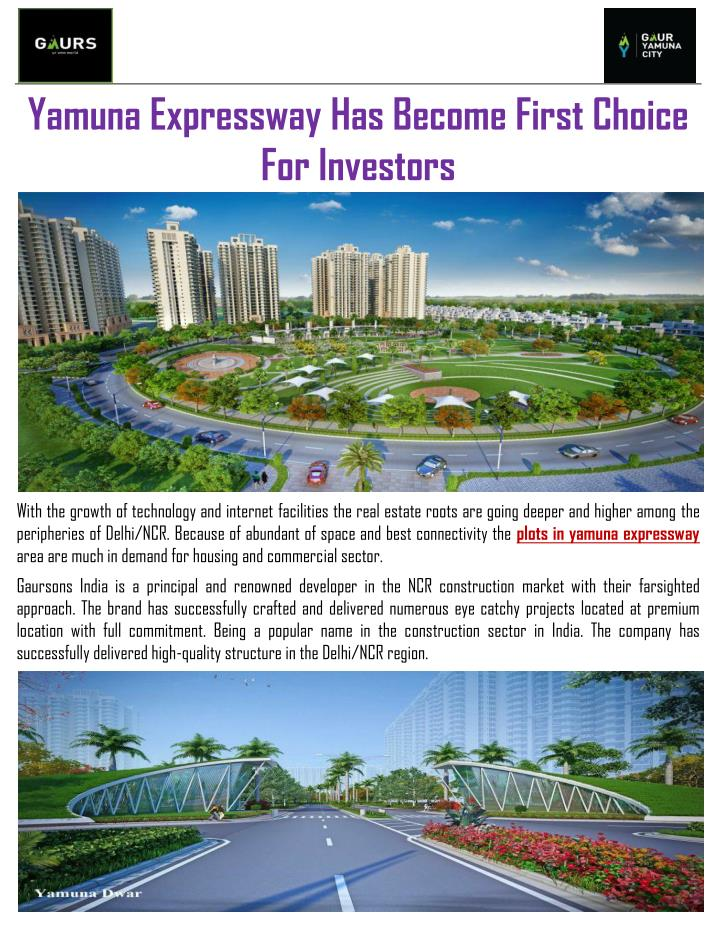 Yamuna Expressway Has Become First Choice