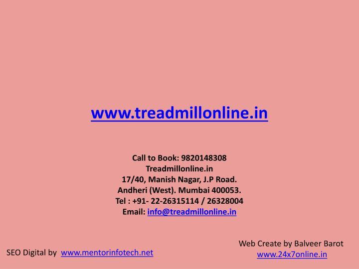 www.treadmillonline.in