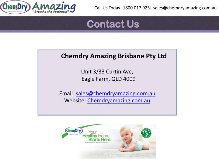 Call Us Today! 1800 017 925| sales@chemdryamazing.com.au