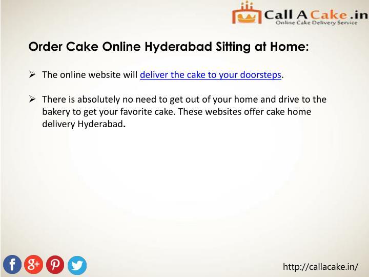 Order Cake Online Hyderabad Sitting at