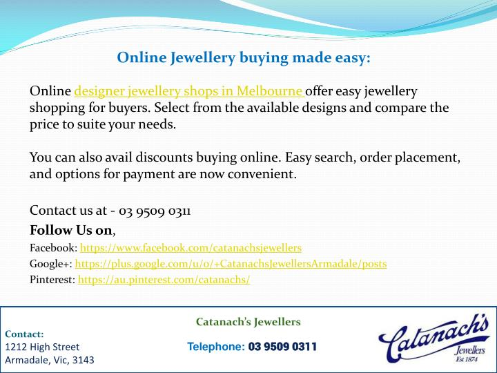 Online Jewellery buying made easy: