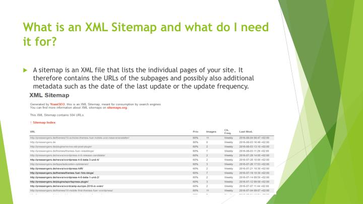 What is an xml sitemap and what do i need it for