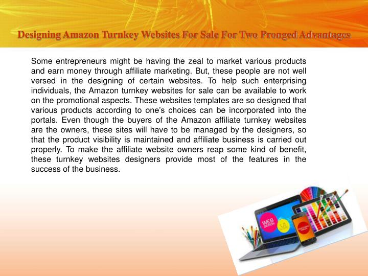 Designing Amazon Turnkey Websites For Sale For Two Pronged Advantages