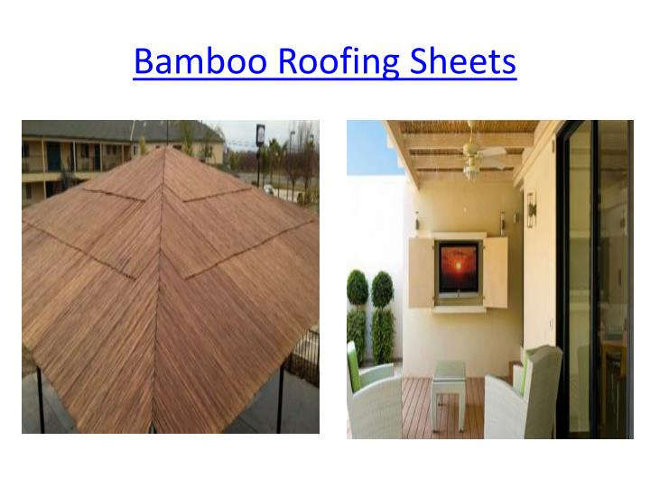 Bamboo Roofing Sheets