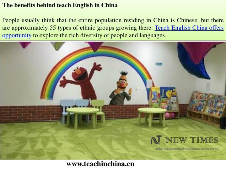 The benefits behind teach English in