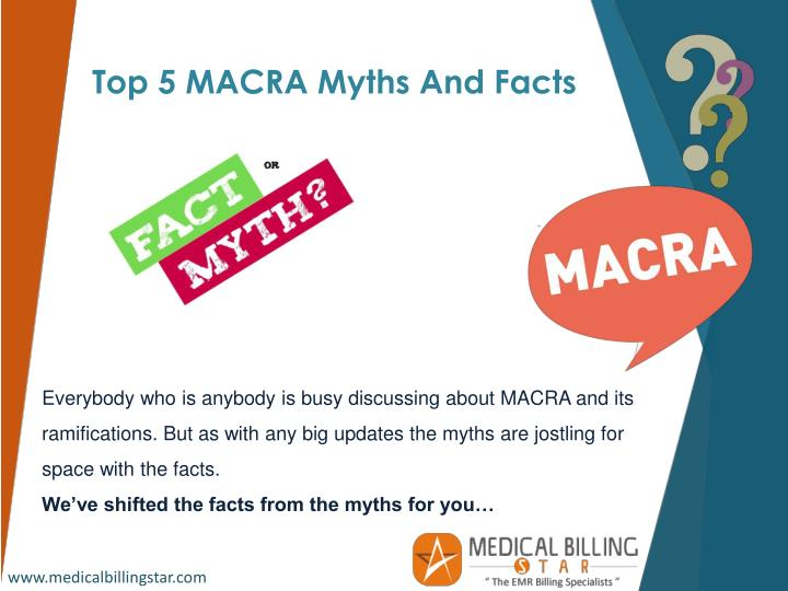 Top 5 MACRA Myths And Facts