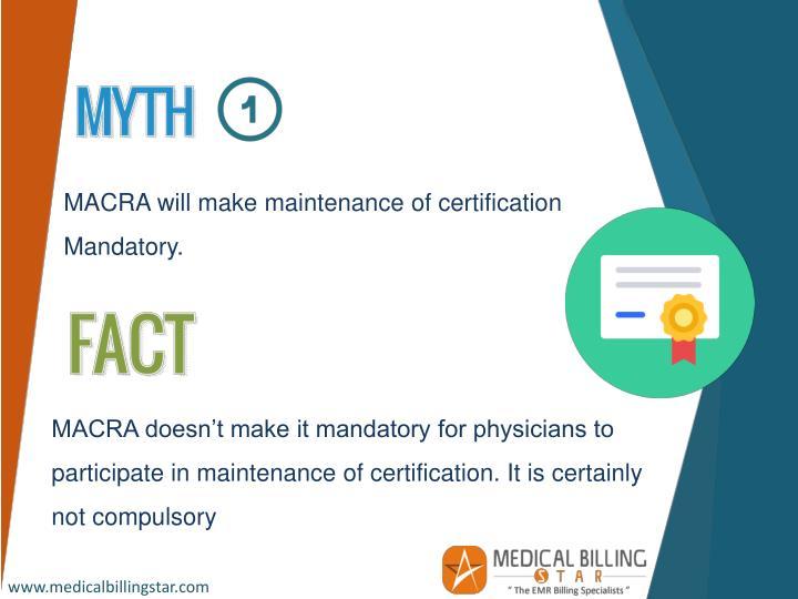 MACRA will make maintenance of certification