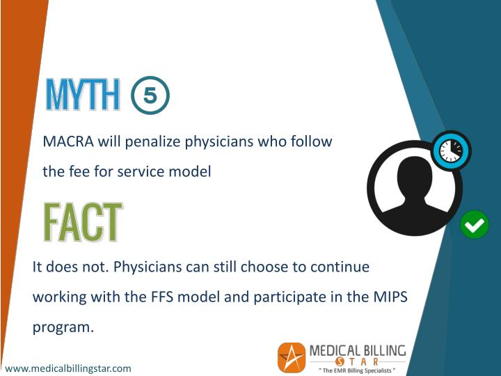 MACRA will penalize physicians who follow the fee for service model