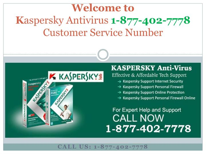Welcome to k aspersky antivirus 1 877 402 7778 customer service number