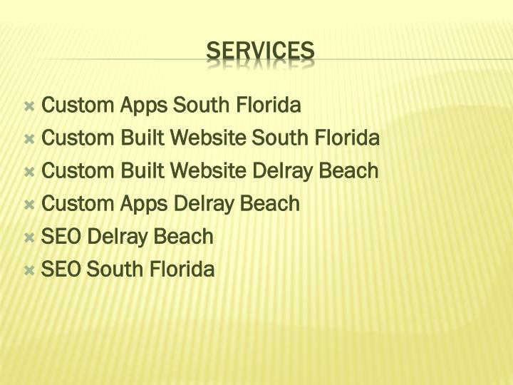 Custom Apps South Florida