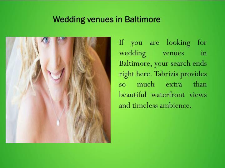 Wedding venues in Baltimore